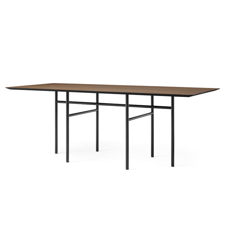 Snaregade Table, rectangular, 90 x 200 cm, black / oak stained from Menu