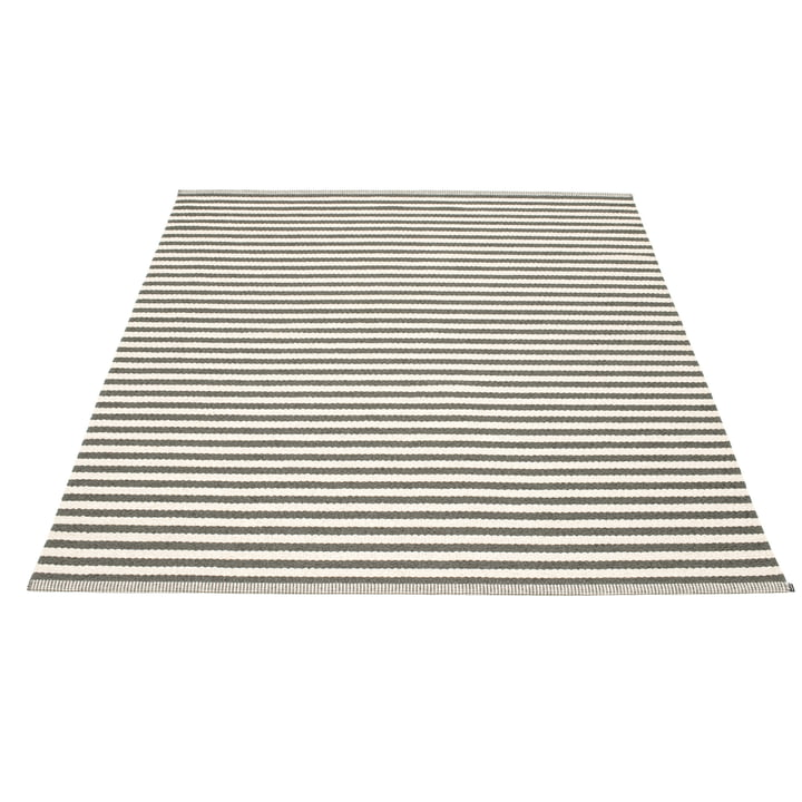 Duo Carpet, 180 x 220 cm, charcoal by Pappelina