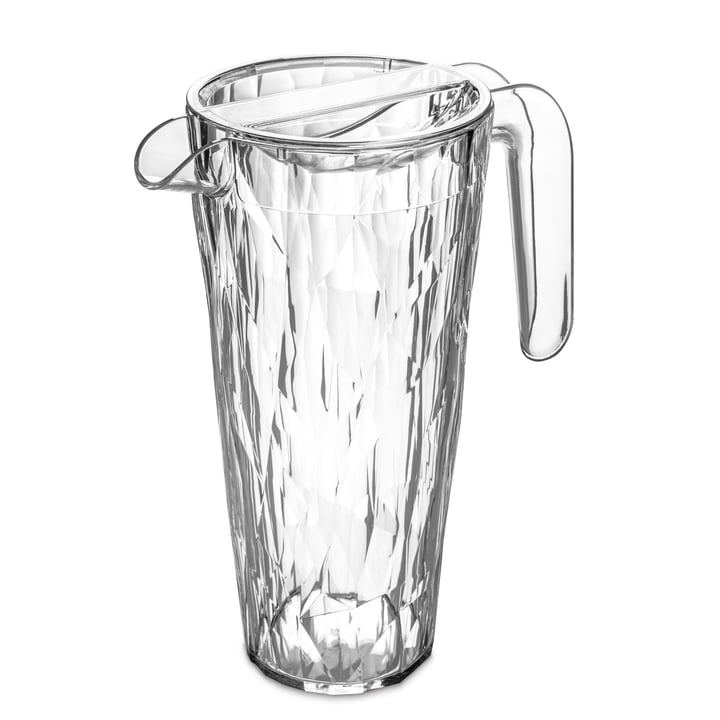 The CLUB Superglas jug from Koziol , 1. 5 l, crystal clear