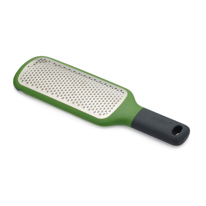 The Grip-Grater flat grater from Joseph Joseph in fine / green