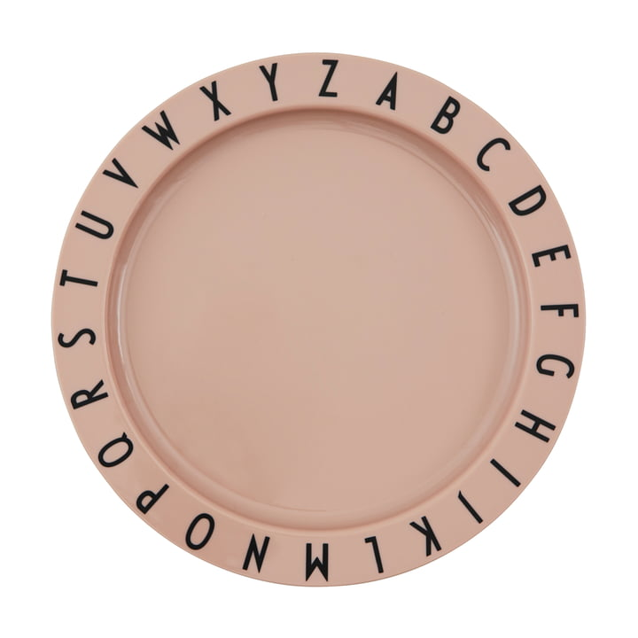 The Eat & Learn Tritan plate from Design Letters in nude