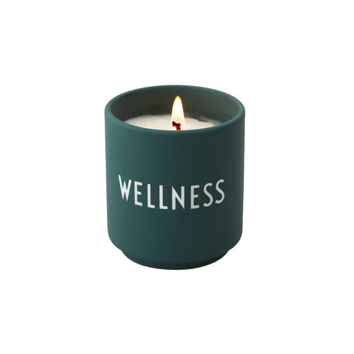 The scented candle small from Design Letters , Wellness / dark green