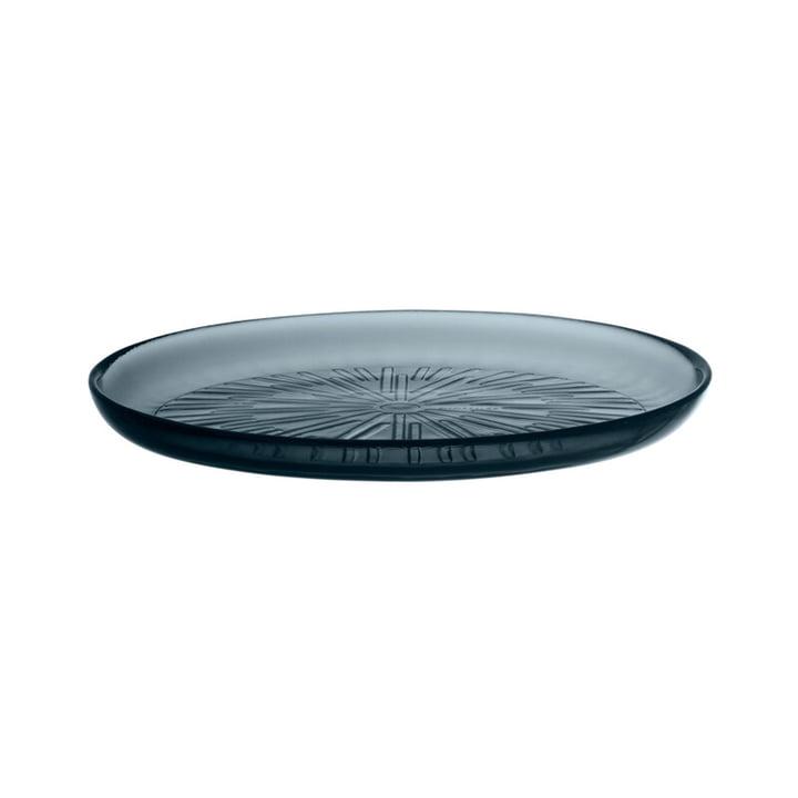 The Essence plate glass from Iittala , Ø 21 cm, dark grey
