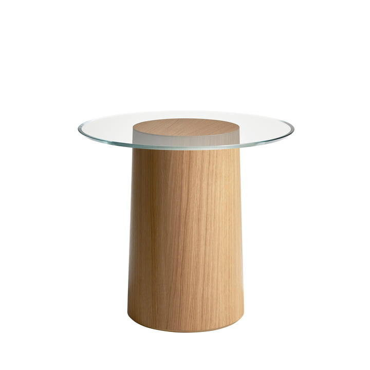 Stub Side table H 44,5 Ø 49 cm from Fritz Hansen in oak