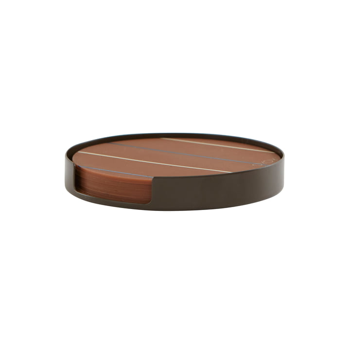 The Oka glass coaster from OYOY in choco