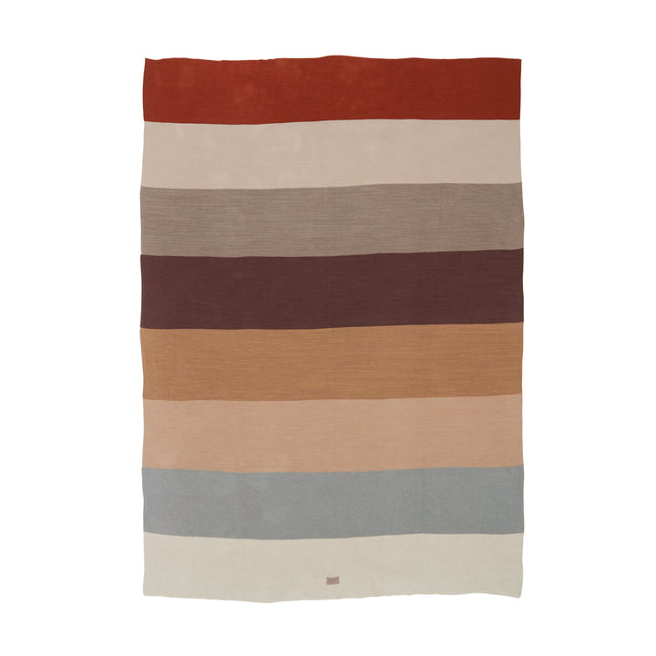 The Iris wool blanket from OYOY , 134 x 184 cm, colorful
