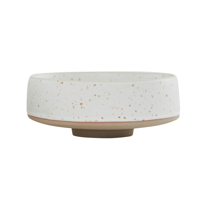 The Hagi bowl from OYOY , Ø 17 x H 7 cm, white / light brown