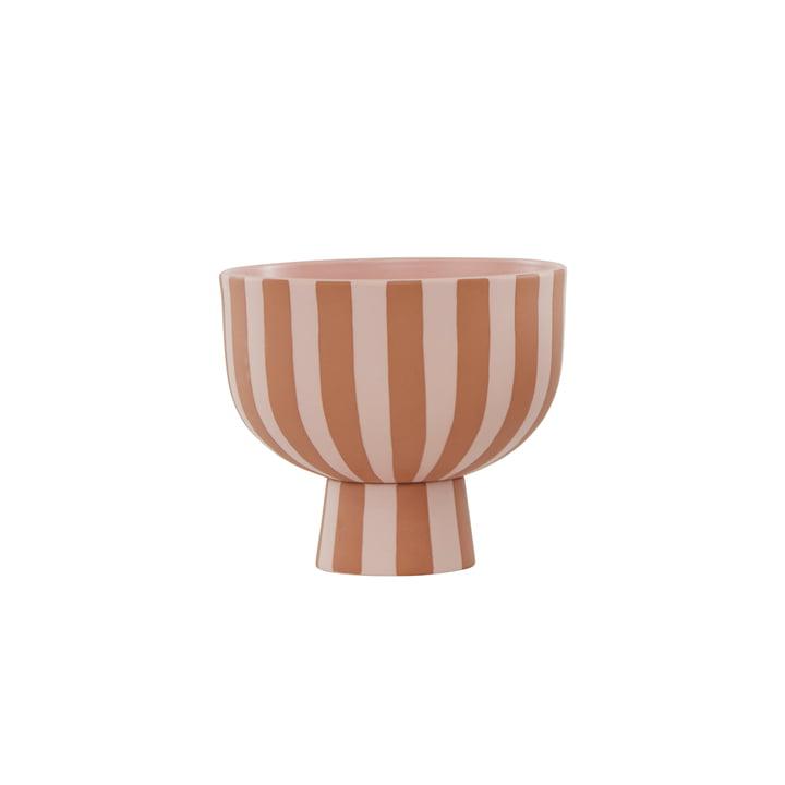 The Toppu bowl from OYOY , Ø 15 x H 13 cm, caramel / rose
