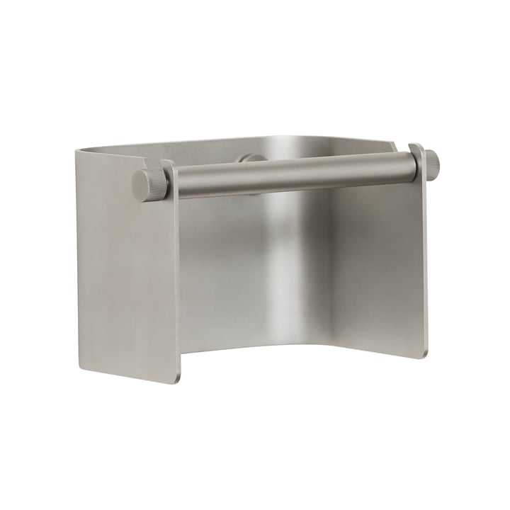 Arc Toilet paper holder, matt chrome from Form & Refine