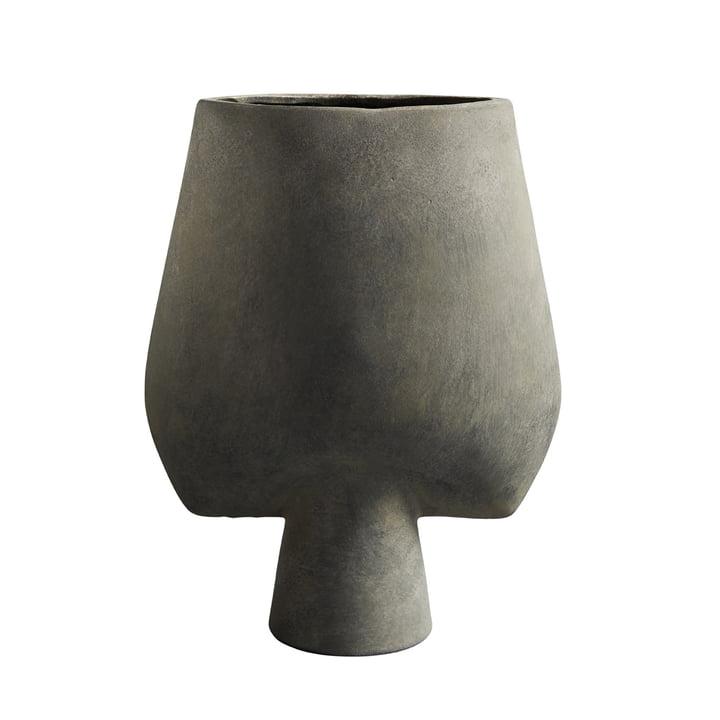 The Sphere Vase Square Large from 101 Copenhagen, dark grey