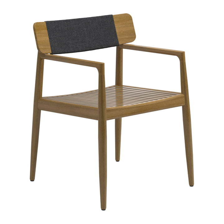 The Archi armchair from Gloster , teak / black