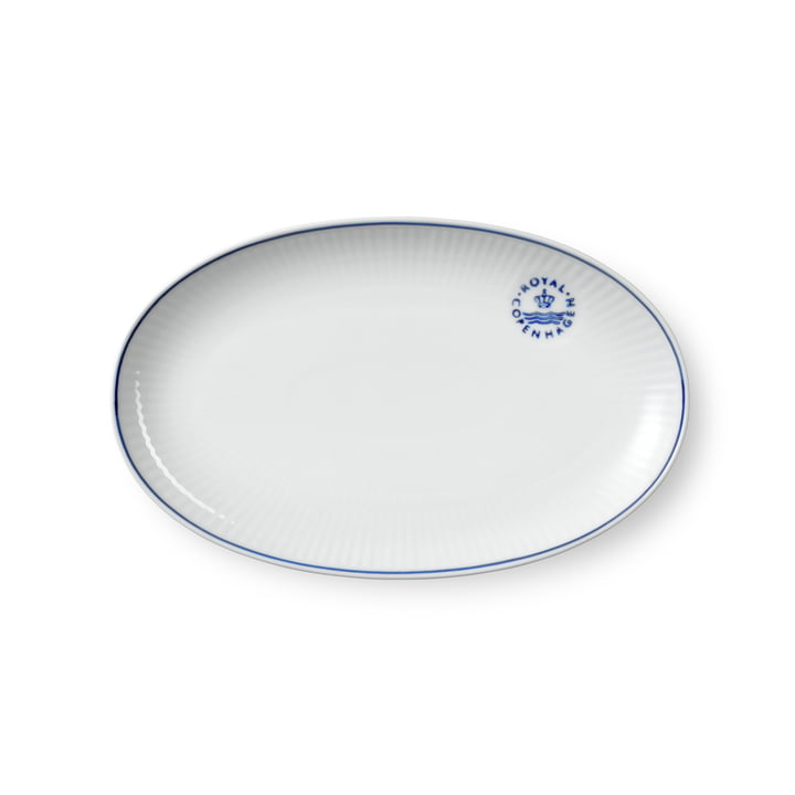 Blueline Serving plate oval, 23 cm from Royal Copenhagen