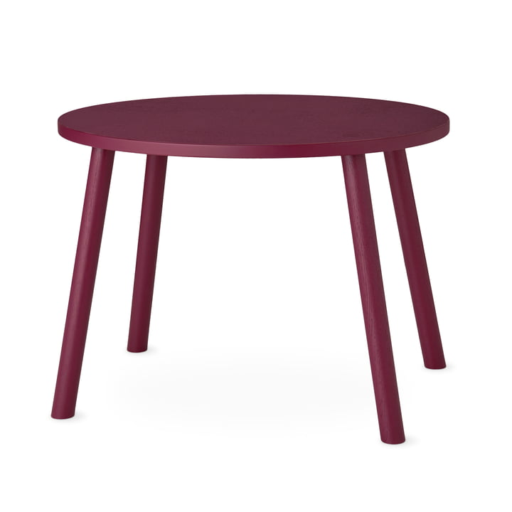 Mouse Children's table oval 64 x 46 cm from Nofred in burgundy