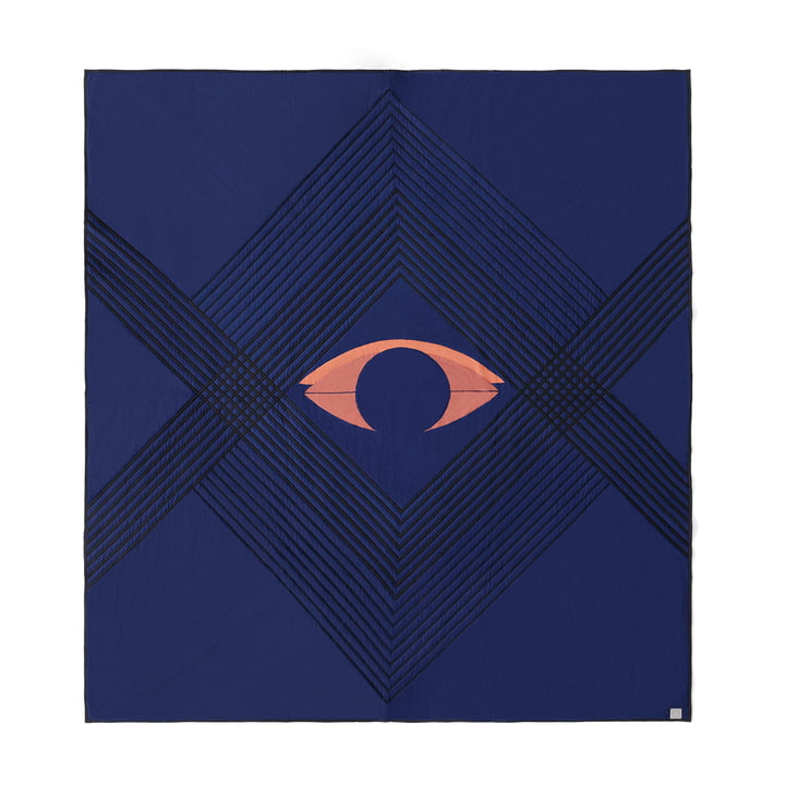 The The Eye AP9 bedspread from & Tradition, 240 x 260 cm, blue midnight