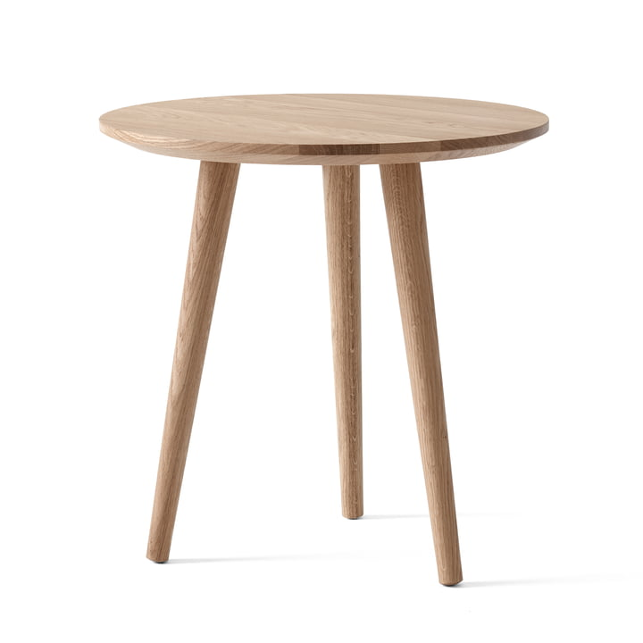 The In Between side table SK13 from & tradition , Ø 48 cm, H 48cm / oak white oiled