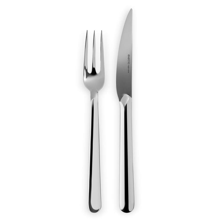 Legio Nova Grill cutlery set, stainless steel (8 pcs.) from Eva Trio