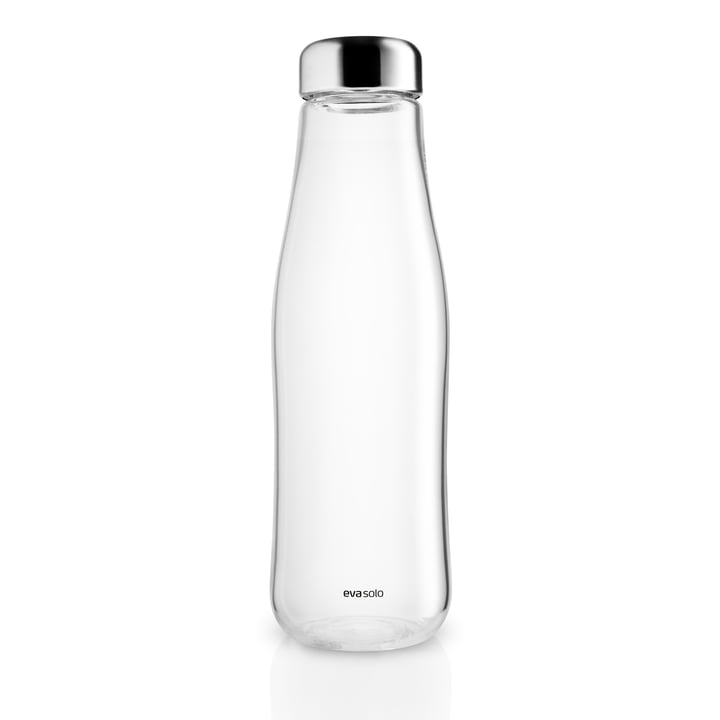 Glass carafe with stopper 1,3 l, stainless steel / clear by Eva Solo