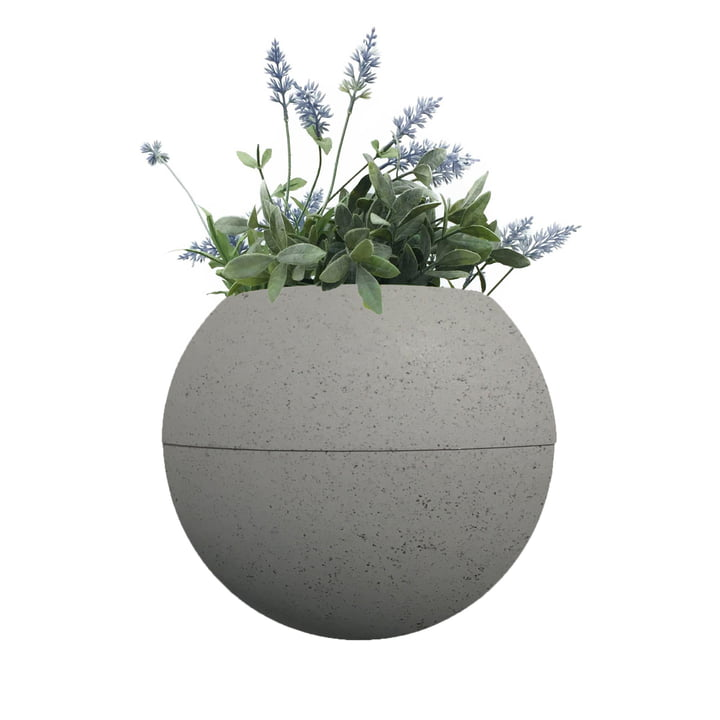 The ballcony bloomball Plant pot from rephorm , concrete grey