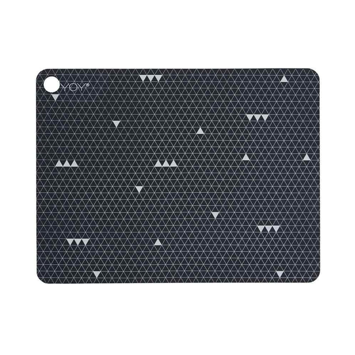 Placemats Grey Line from OYOY in dark grey (set of 2)