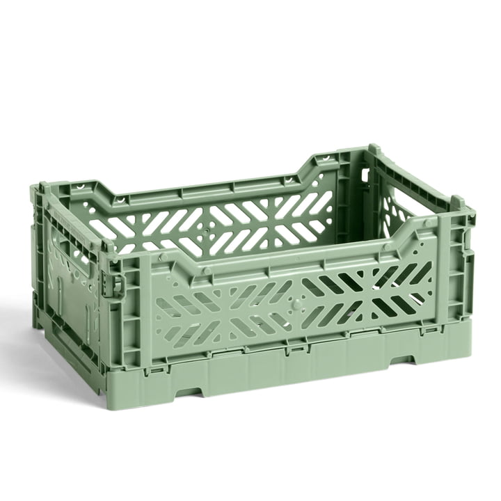 The Colour Crate basket S from Hay , 26.5 x 17 cm, dusty green