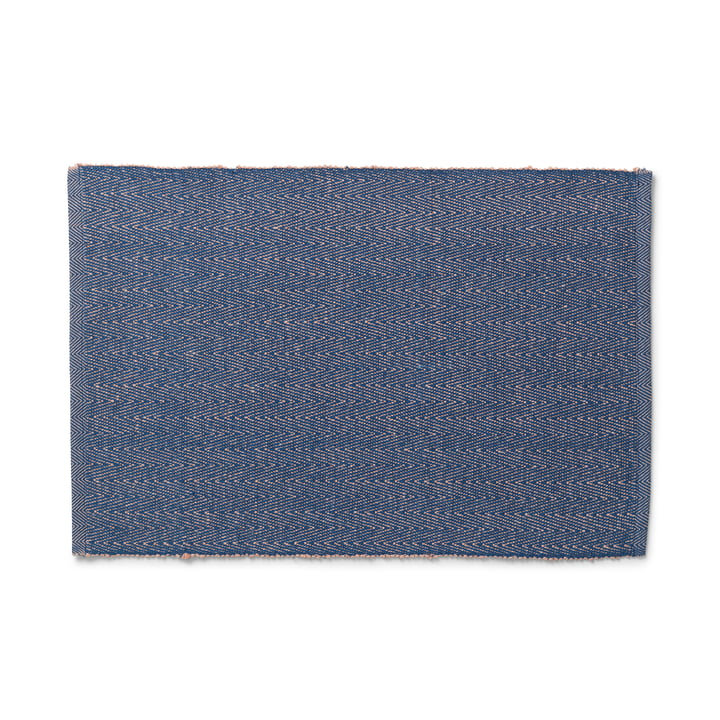The Herringbone Placemat from Lyngby Porcelæn , 43 x 30 cm, blue