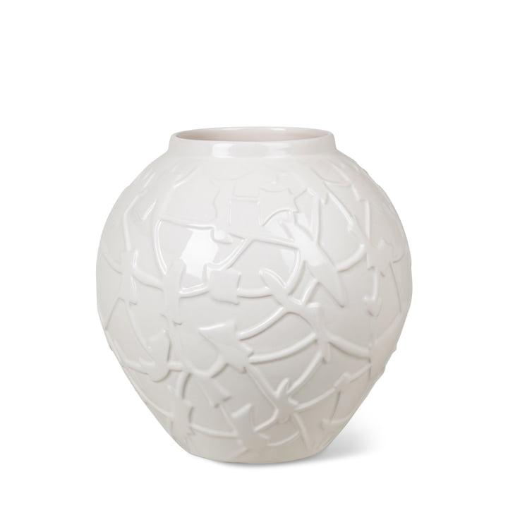 The Relief Vase from Kähler Design , H 20 cm, white