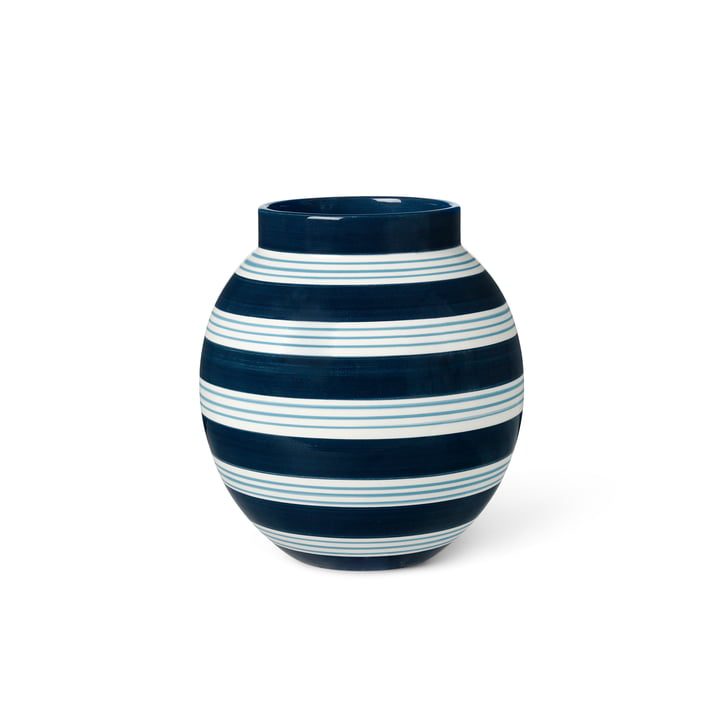 The Omaggio Vase from Kähler Design , H 20,5 cm, dark blue