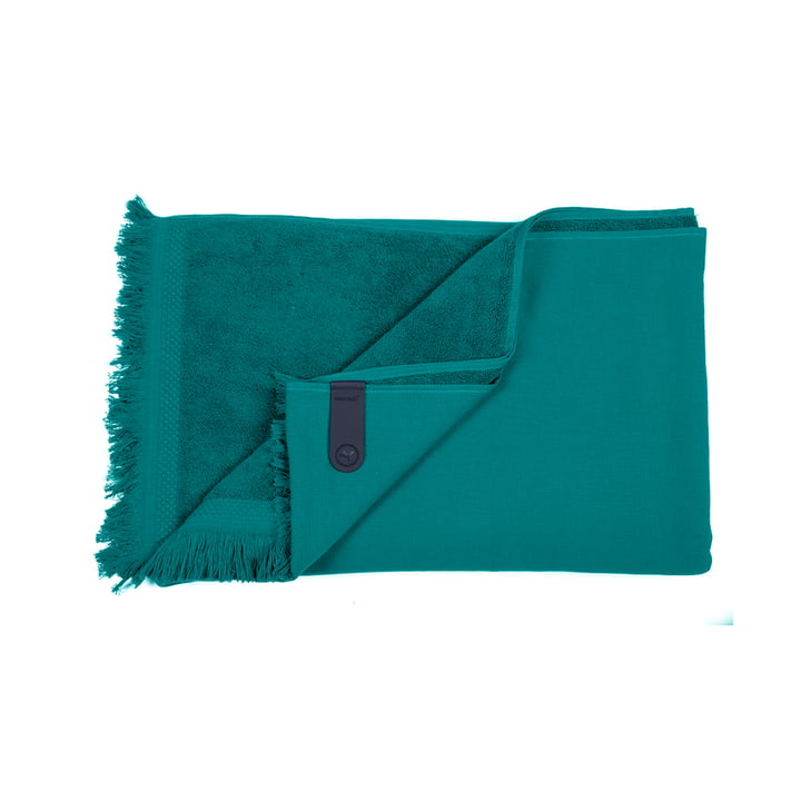 The Fouta towel by Fermob, 100 x 200 cm, jade green