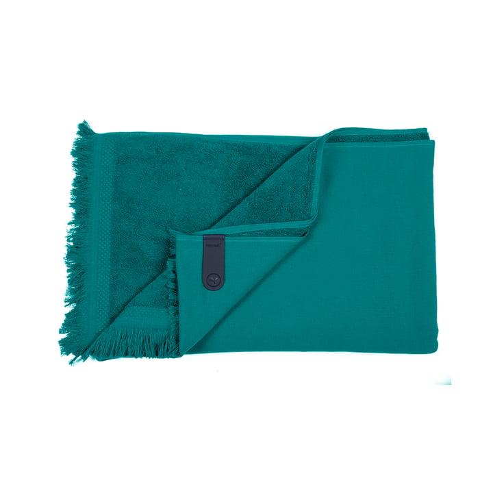 The Fouta towel by Fermob, 100 x 200 cm, jade green