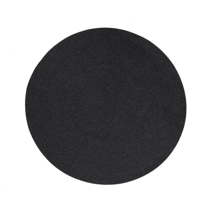The Circle carpet from Cane-line , Ø 140 cm, soft-rope dark grey
