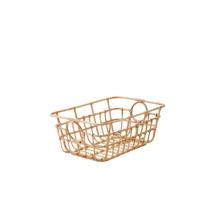 The Carry Me basket from Cane-line , low, 65 x 45 cm, natural