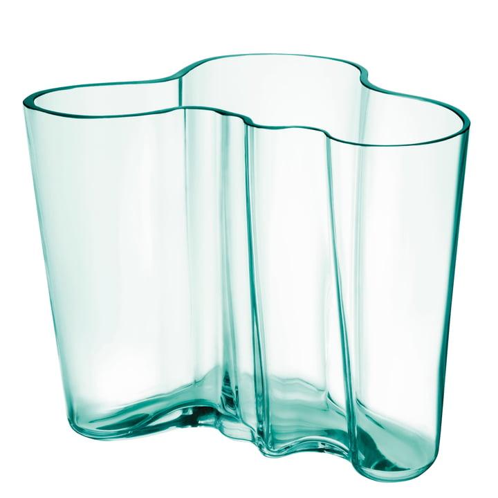 Aalto Vase Savoy 160 mm by Iittala in water green (Anniversary Edition 2021)