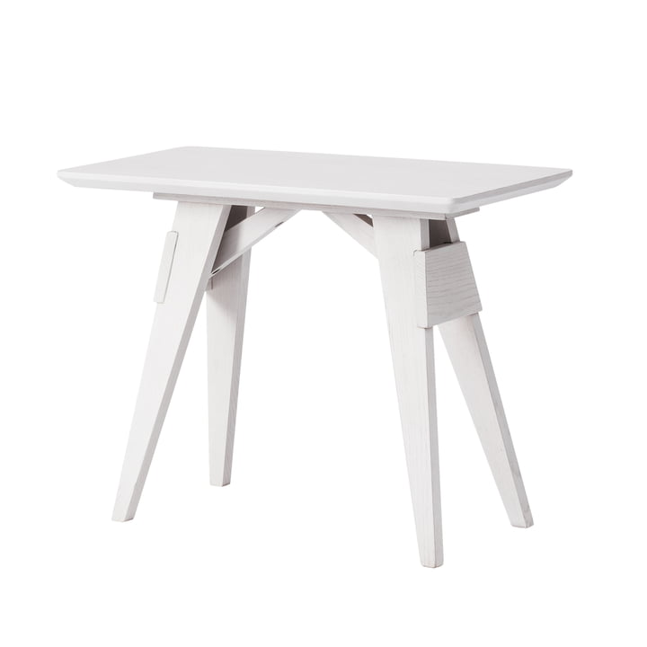 Arco Side table from Design House Stockholm in white / grey