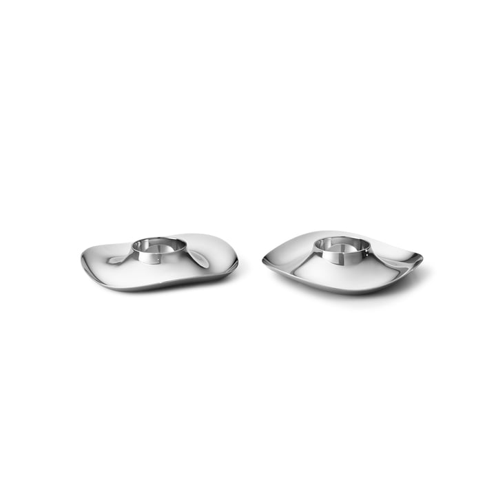 Cobra Egg cup from Georg Jensen in stainless steel (set of 2)