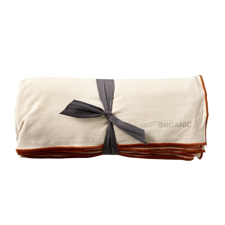 The Organic tablecloth from Södahl , 140 x 350 cm, crème / amber