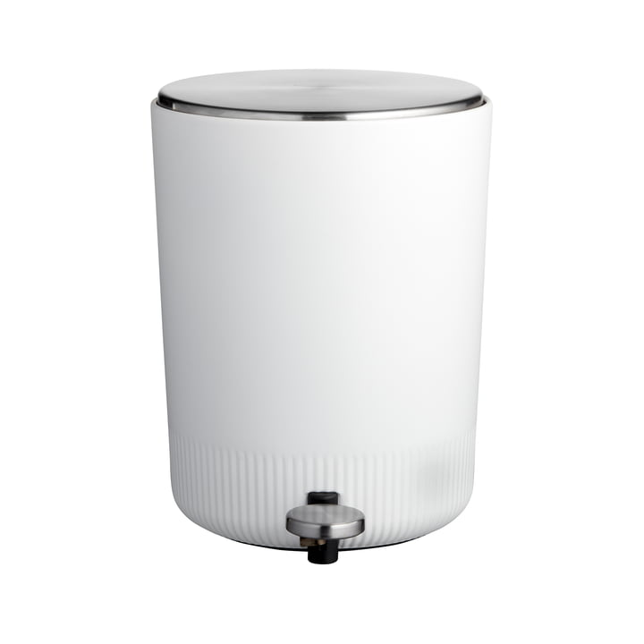 The Plissé Pedal bin from Södahl , 5 L, white