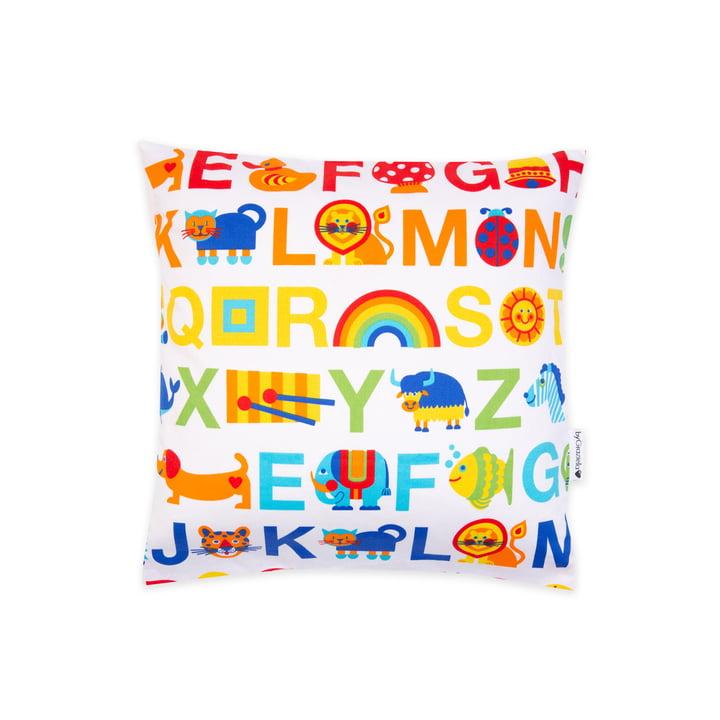 The pillowcase ABC Rainbow from byGraziela , 40 x 40 cm, multicoloured