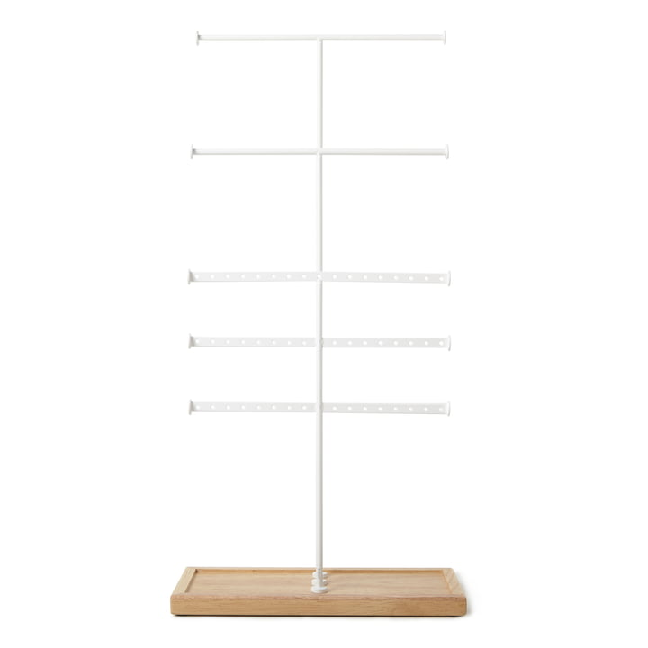Trigem 5-tier jewellery stand from Umbra in white / nature
