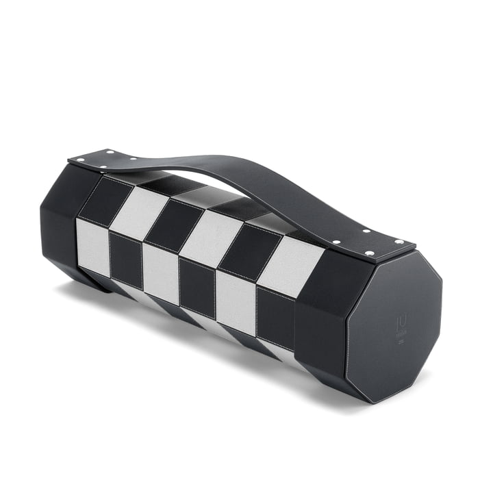 Rolz mobile chess and checkers set from Umbra in black