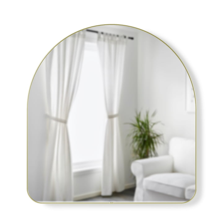 Hubba Arched Wall mirror 91 x 86 cm from Umbra in brass