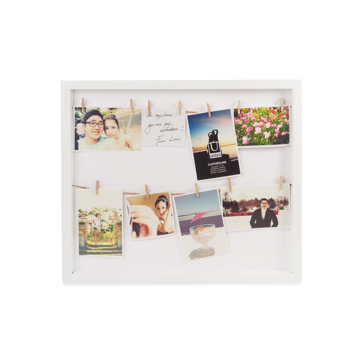Clothesline Picture frame from Umbra in white