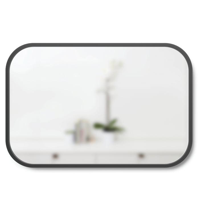 Hub Wall mirror rectangular 91 x 61 cm from Umbra in black