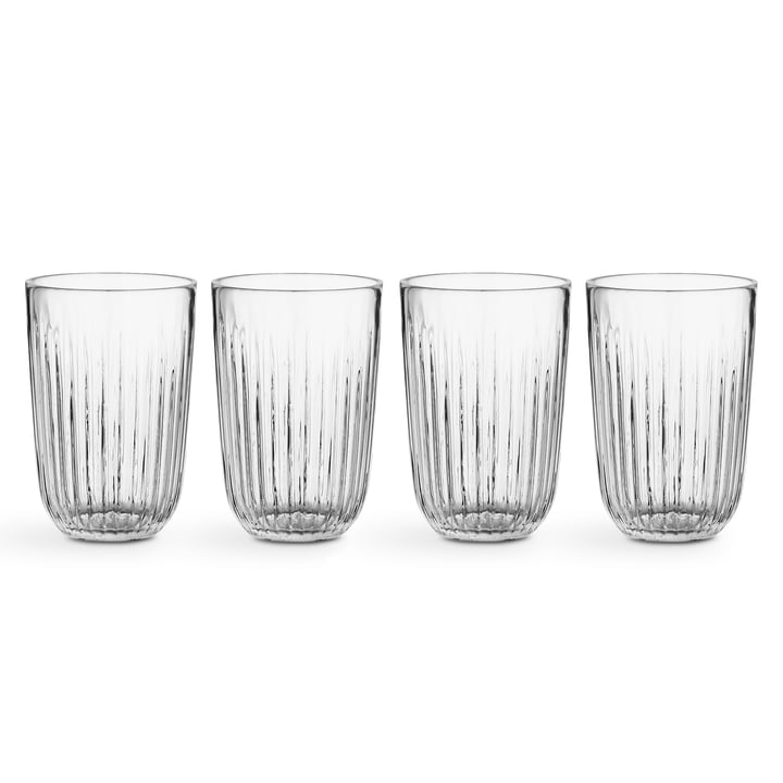 Hammershøi Drinking glass 33 cl from Kähler Design in clear (set of 4)