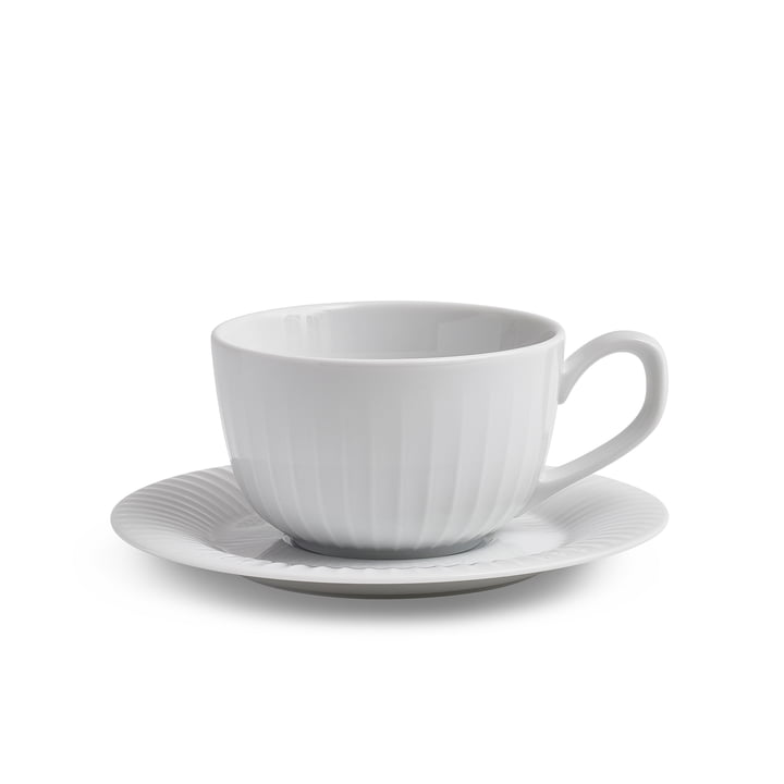 Hammershøi Coffee cup with saucer 25 cl from Kähler Design in white