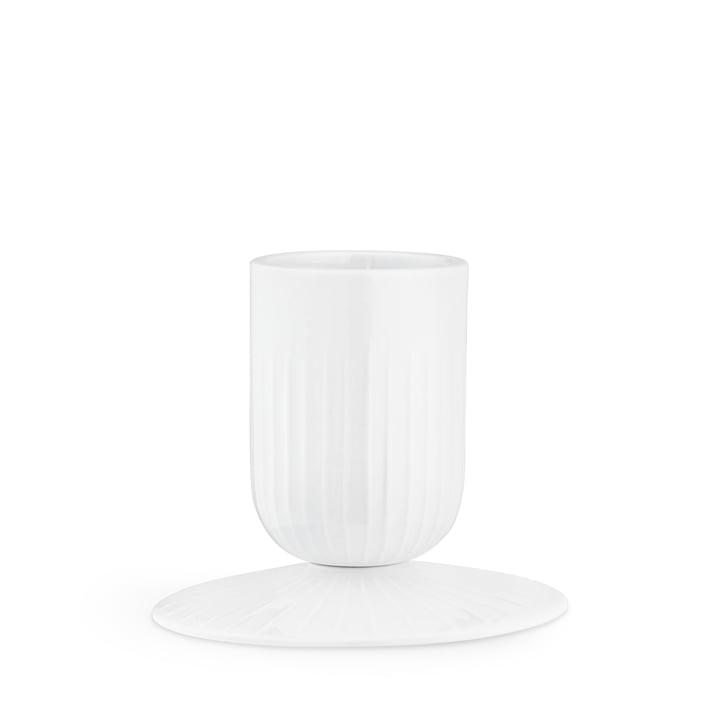 Hammershøi Block candle holder Ø 5 cm from Kähler Design in white