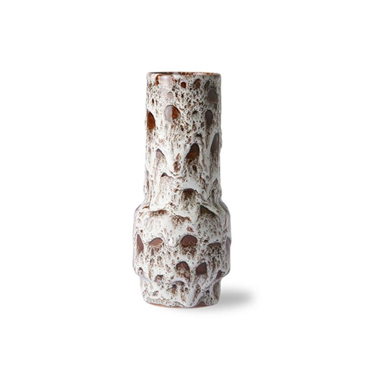 The Retro ceramic vase from HKliving , lava white