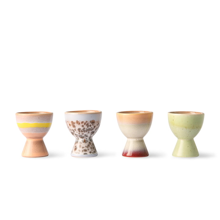 The 70's egg cups from HKliving (set of 4)