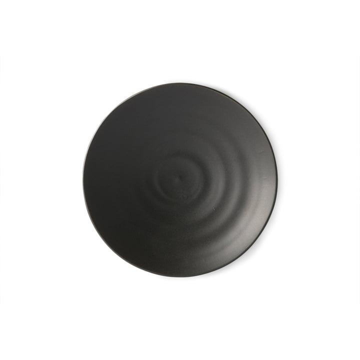The Kyoto dessert plate from HKliving , Ø 16 cm, matt black