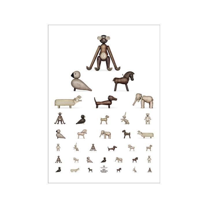 Eye test poster, 30 x 40 cm, brown / white from Kay Bojesen
