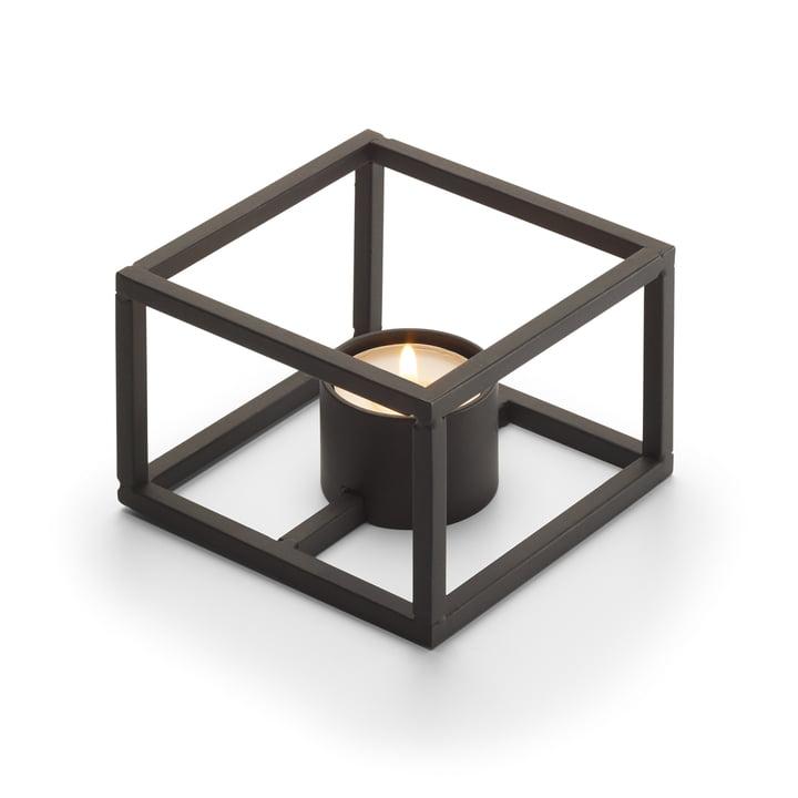 Cubo Tealight holder for 1 tealight 10 x 10 cm from Philippi in black